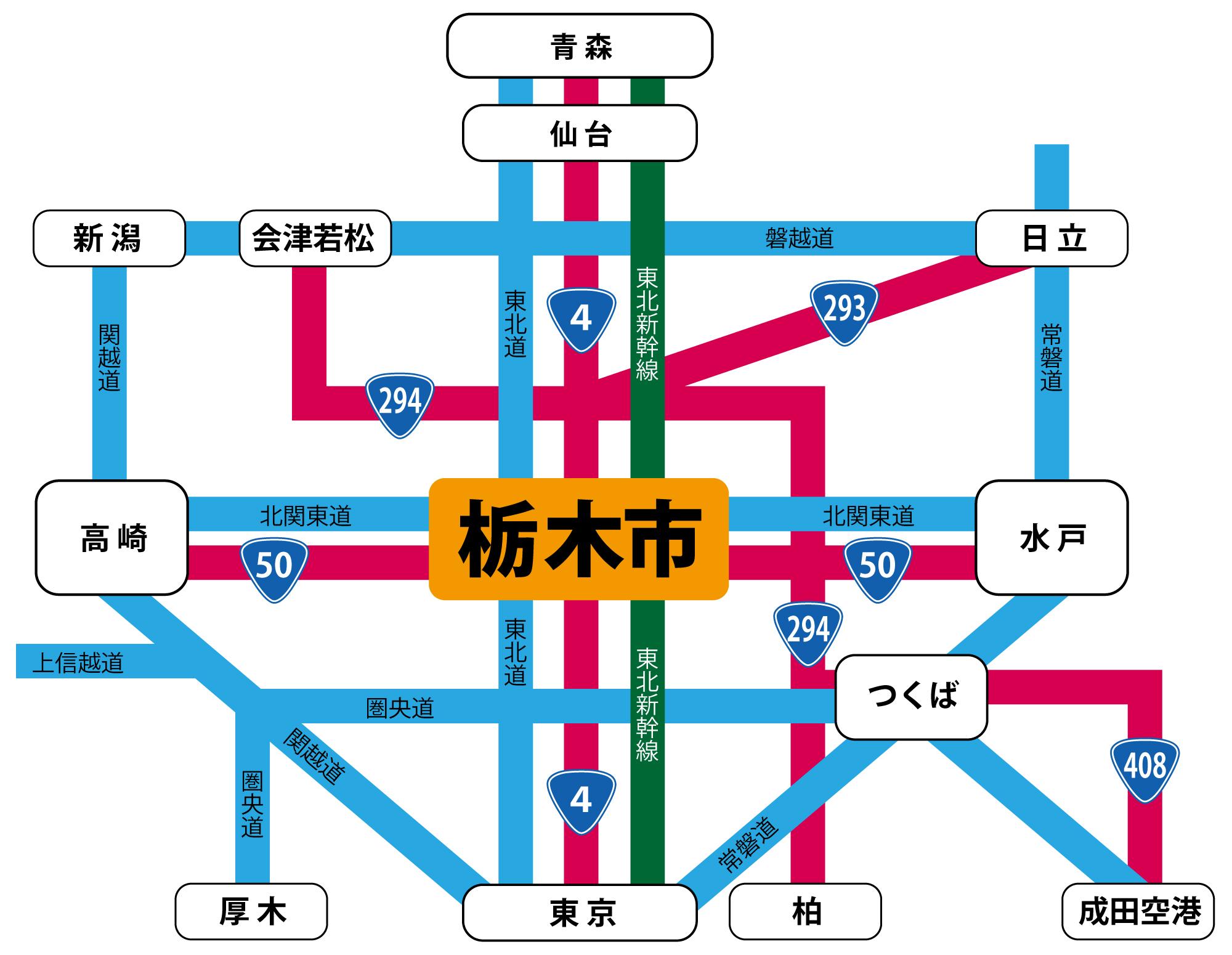 栃木県栃木市は、東日本の新しい物流拠点です